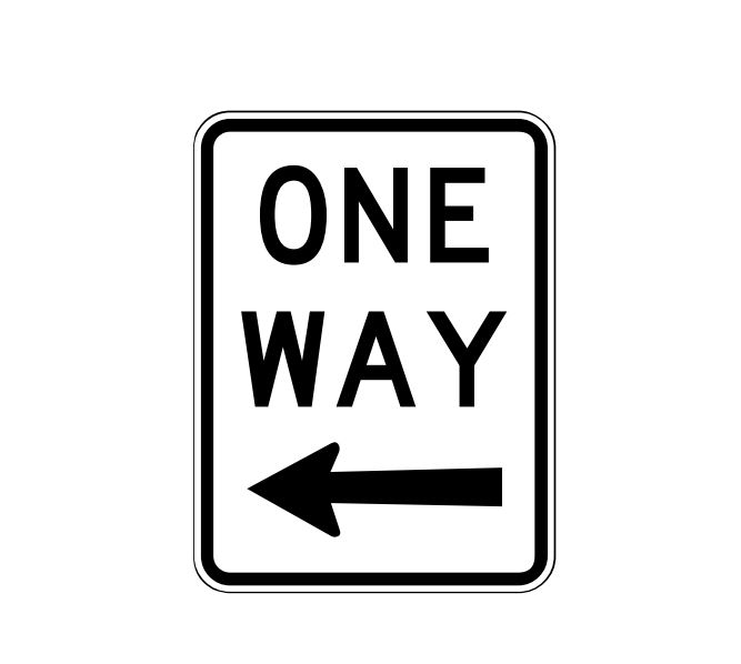 One Way Sing With Left Arrow